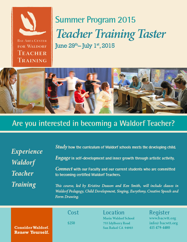 Teacher Training Taster flyer